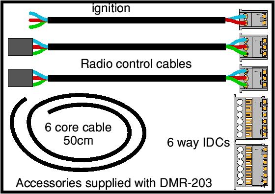 DMR-203 accessories