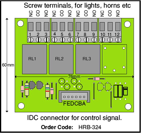 Horn relay board layout