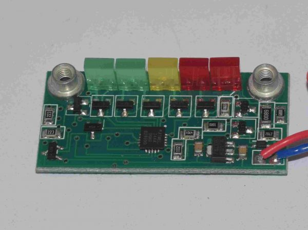 Digital programmable LED battery meter