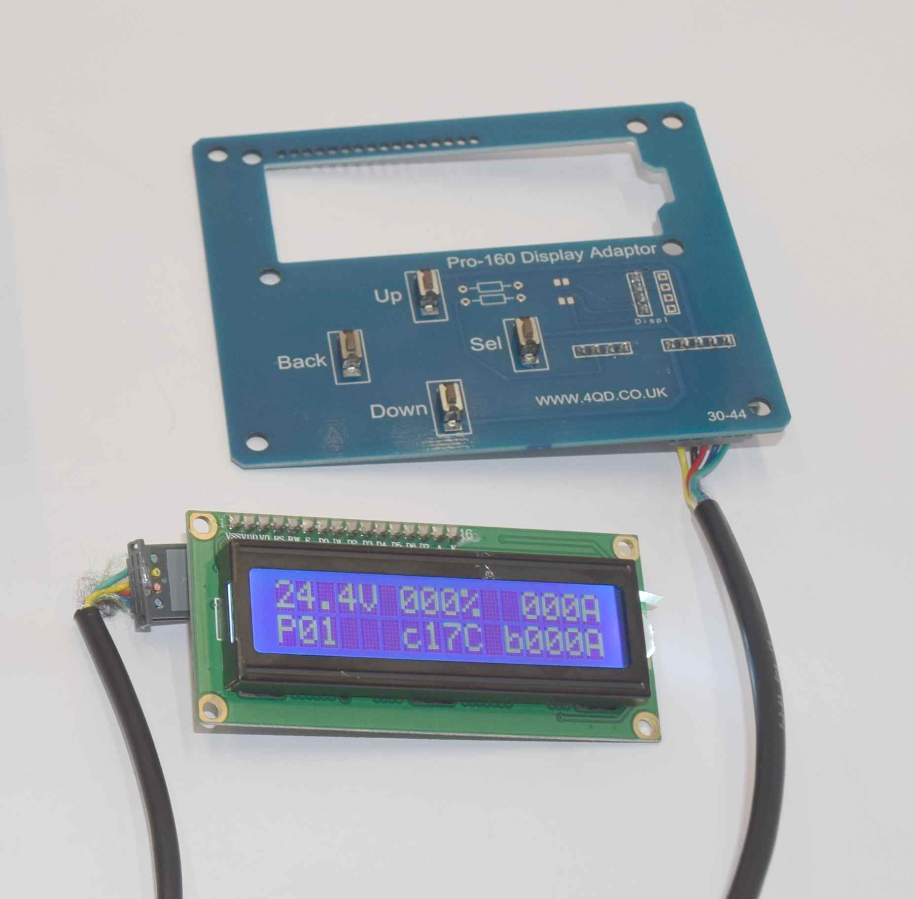 Pro-160 display adaptor board and seperate display