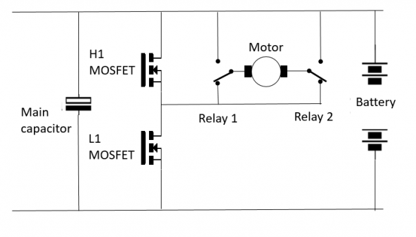 half bridge and relay circuit