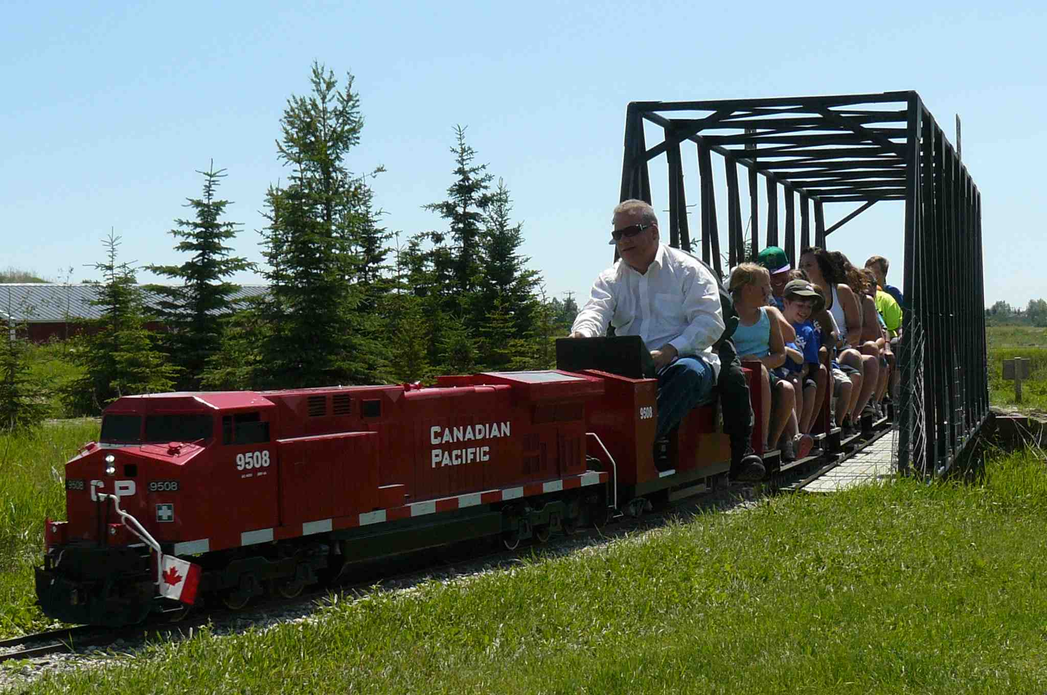 Canadian Pacific loco hauling passengers at Iron Horse Park