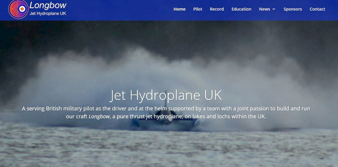 The Longbow jet hydroplane world water speed record