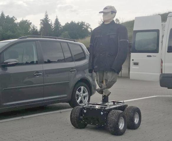 shooting range target robot